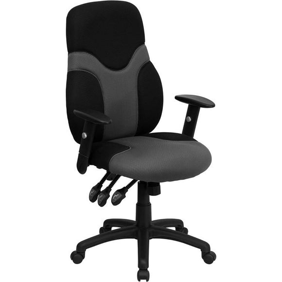High Back Ergonomic Mesh Swivel Task Office Chair with Adjustable Arms