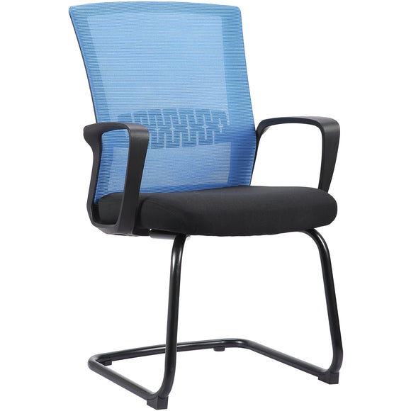 Haley II Ergonomic Mesh Visitor Sled Based Chair, Indigo Blue