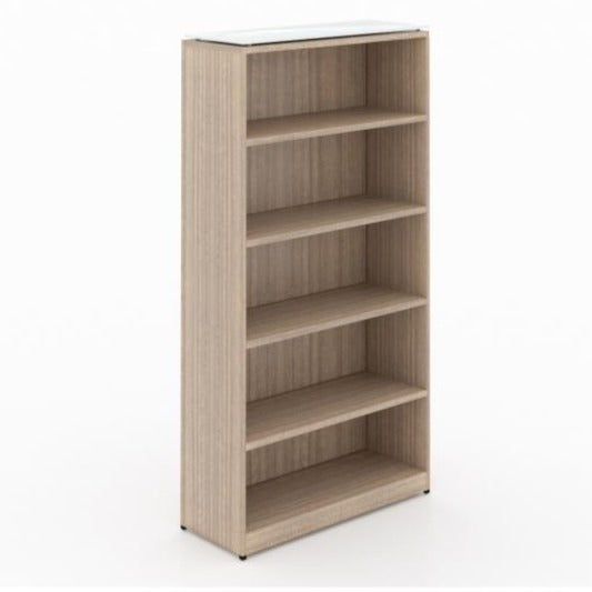 "Chiarezza 71""H Bookcase w/ Glass Top"