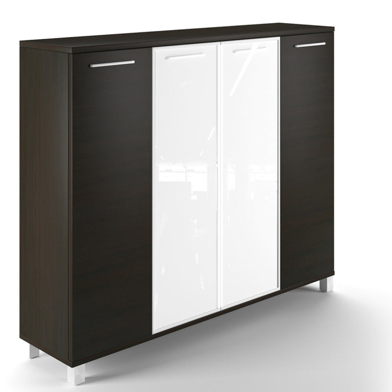 "Chiarezza Deluxe 4 Door Wall Unit 63"" X 16"" X 53"""
