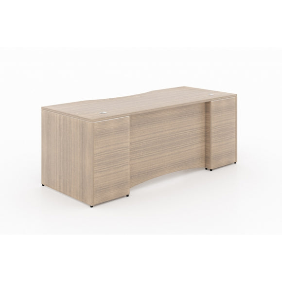 Chiarezza Rectangular Desk Shell with Laminate Modesty Panel