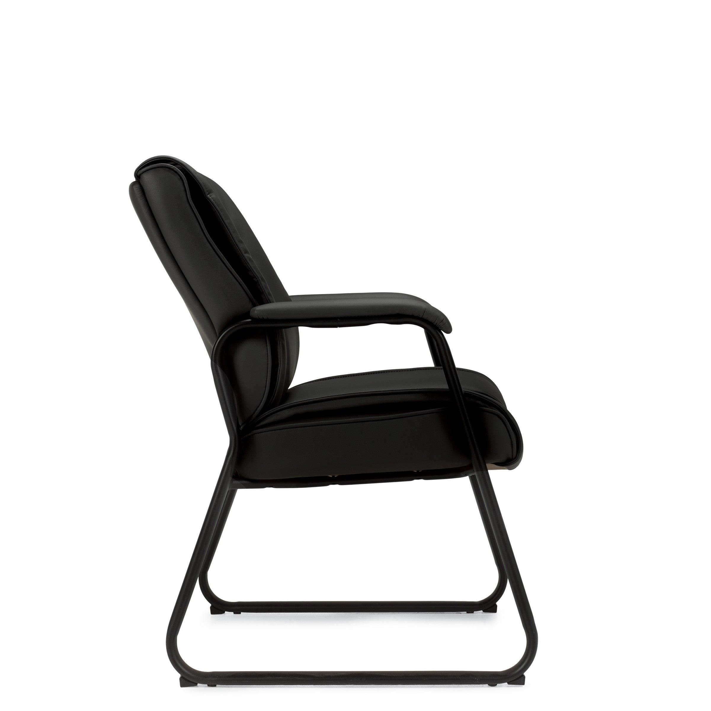 Preva Sled Base Luxhide Guest Chair