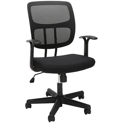 Sharpline Mesh Mid-back Computer Desk Chair, Black