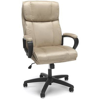Sharpline Plush High Back Microfiber Office Chair, Tan