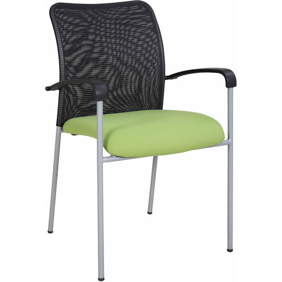 Weston Mesh Stackable Visitor Chair, Green