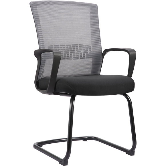 Haley II Ergonomic Mesh Visitor Sled Based Chair, Estate Gray