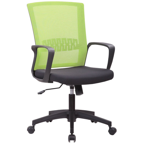 Haley Ergonomic Mesh Task Chair, Green