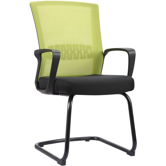 Haley II Ergonomic Mesh Visitor Sled Based Chair, Kelly Green