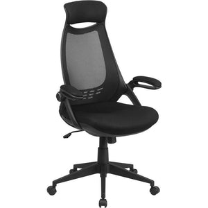 Adagio Series High Back Mesh Executive Swivel Office Chair with Flip-Up Arms