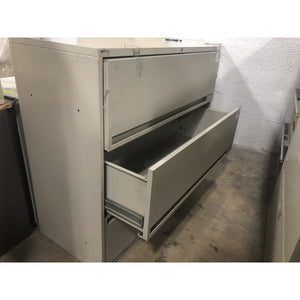 "Pre-Owned 42"" Lateral file, Gray"