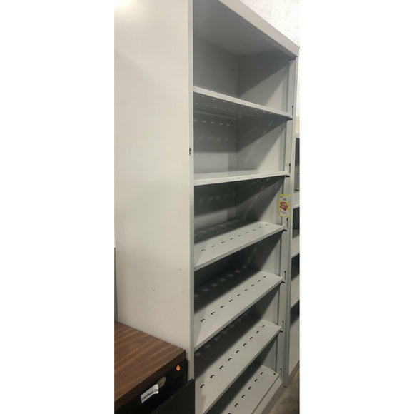Pre-Owned 6 Shelf Metal Bookcase, Gray