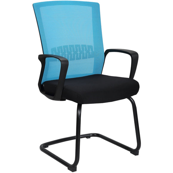 Haley Ergonomic Mesh Visitor Sled Based Chair, Blue