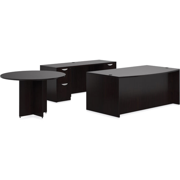 Preva Straight/Bowfront Desks with Round Meeting Table