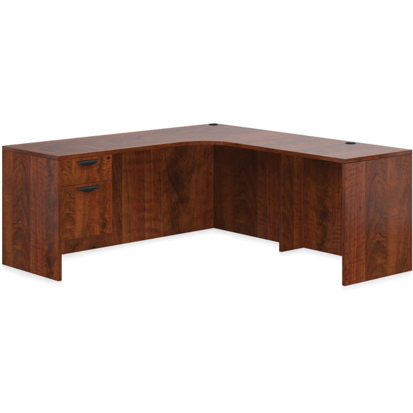 Preva L-Shaped Desk with Single Pedestal