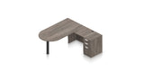 Preva L-Shaped Desk with Bullet End table