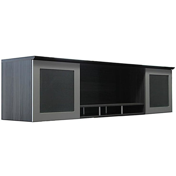 Neo Wall-Mounted Hutch with Glass Doors