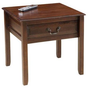 "Home Loft Outlet Concepts Delano End Table, 23""W x 23""D x 22.5""H, Brown Mahogany"