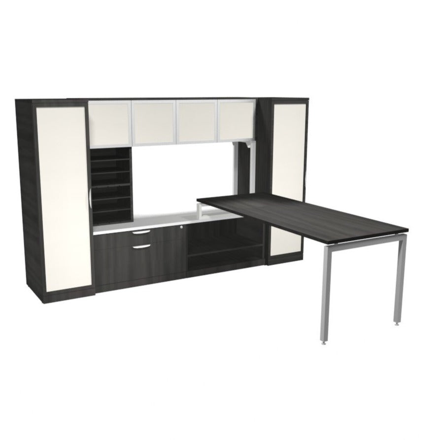 Empresario Split Level Desk with Multiple Storage Components