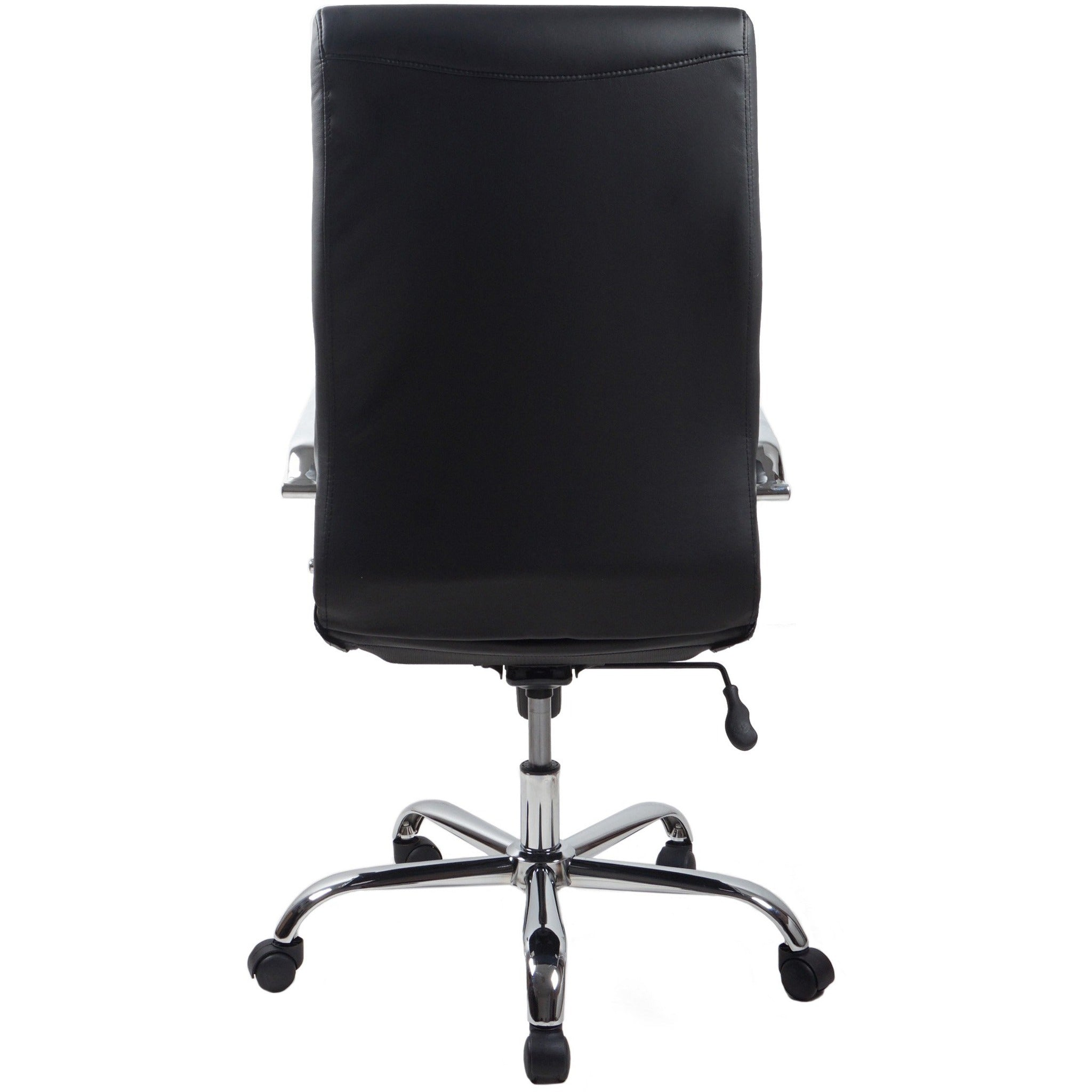 RealBiz II Modern Comfort Series High-Back LeatherPro Chair, Jet Black