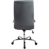 RealBiz II Modern Comfort Series High-Back LeatherPro Chair, Slate Gray