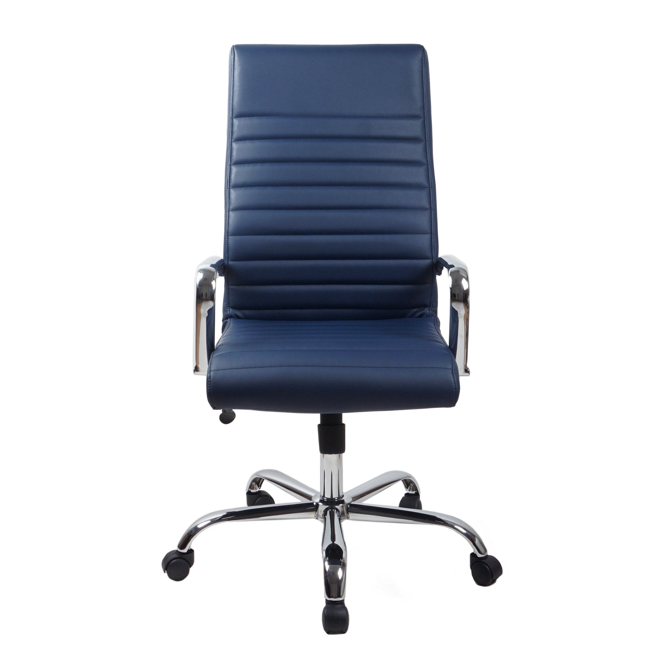 RealBiz II Modern Comfort Series High-Back LeatherPro Chair, Midnight Blue