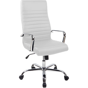 RealBiz II Modern Comfort Series High-Back LeatherPro Chair, Pure White