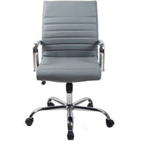 RealBiz II Modern Comfort Series Mid-Back LeatherPro Chair, Slate Gray