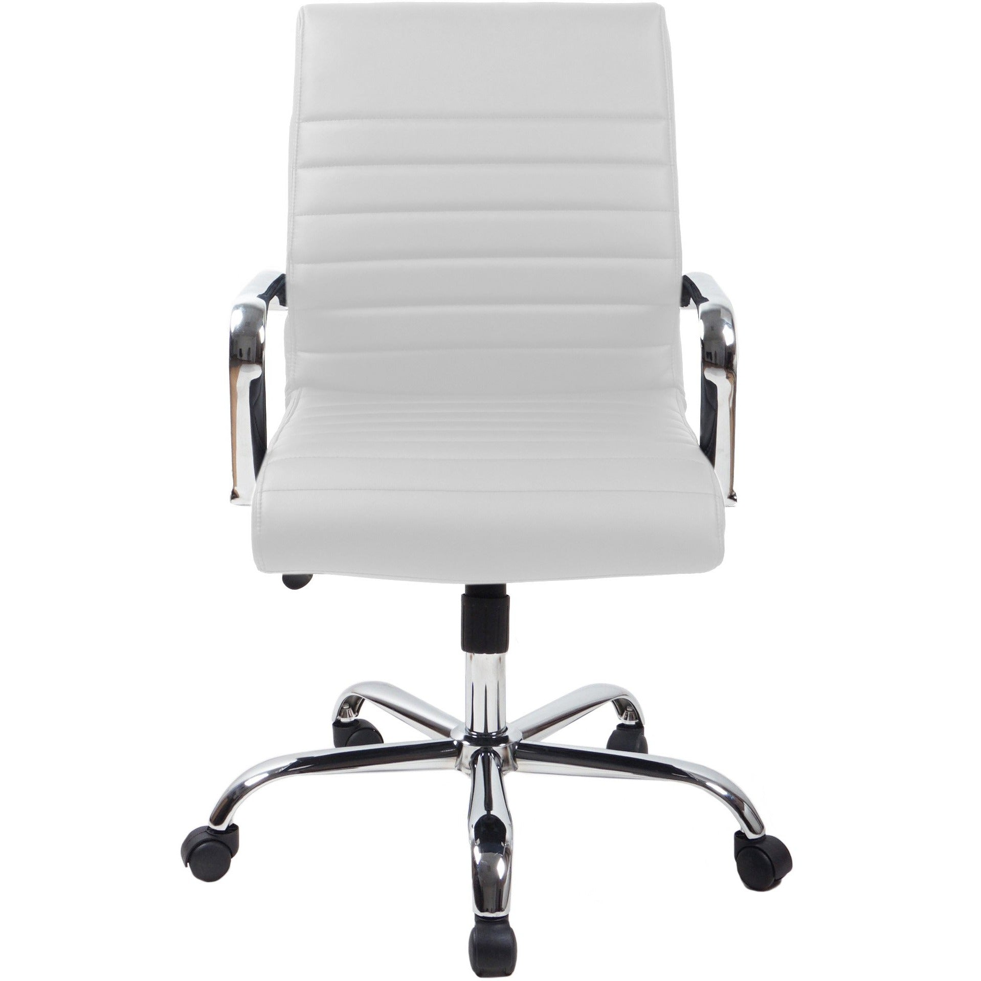 RealBiz II Modern Comfort Series Mid-Back  LeatherPro Chair, Pure White