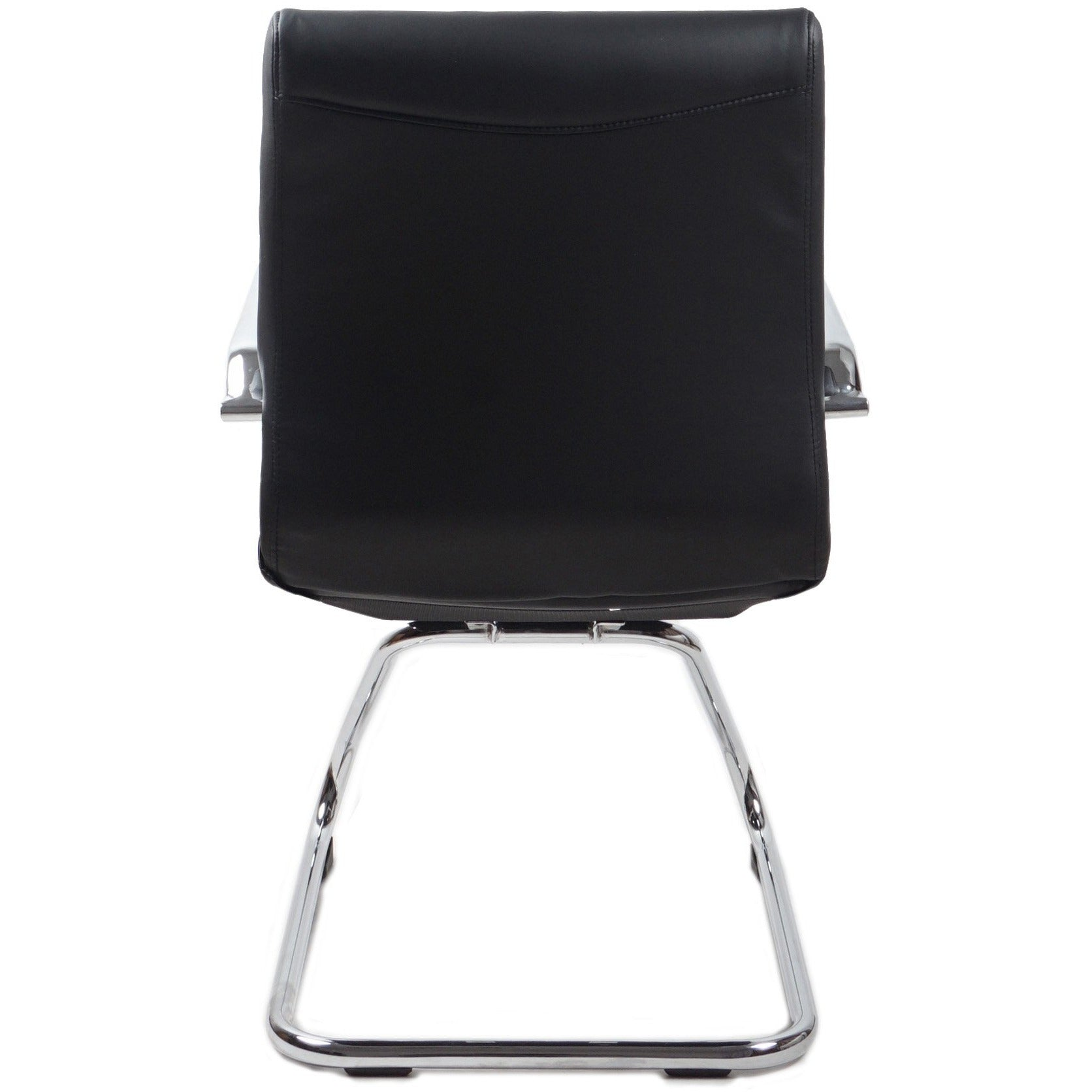 RealBiz II Modern Comfort Series Visitor LeatherPro Chair, Jet Black