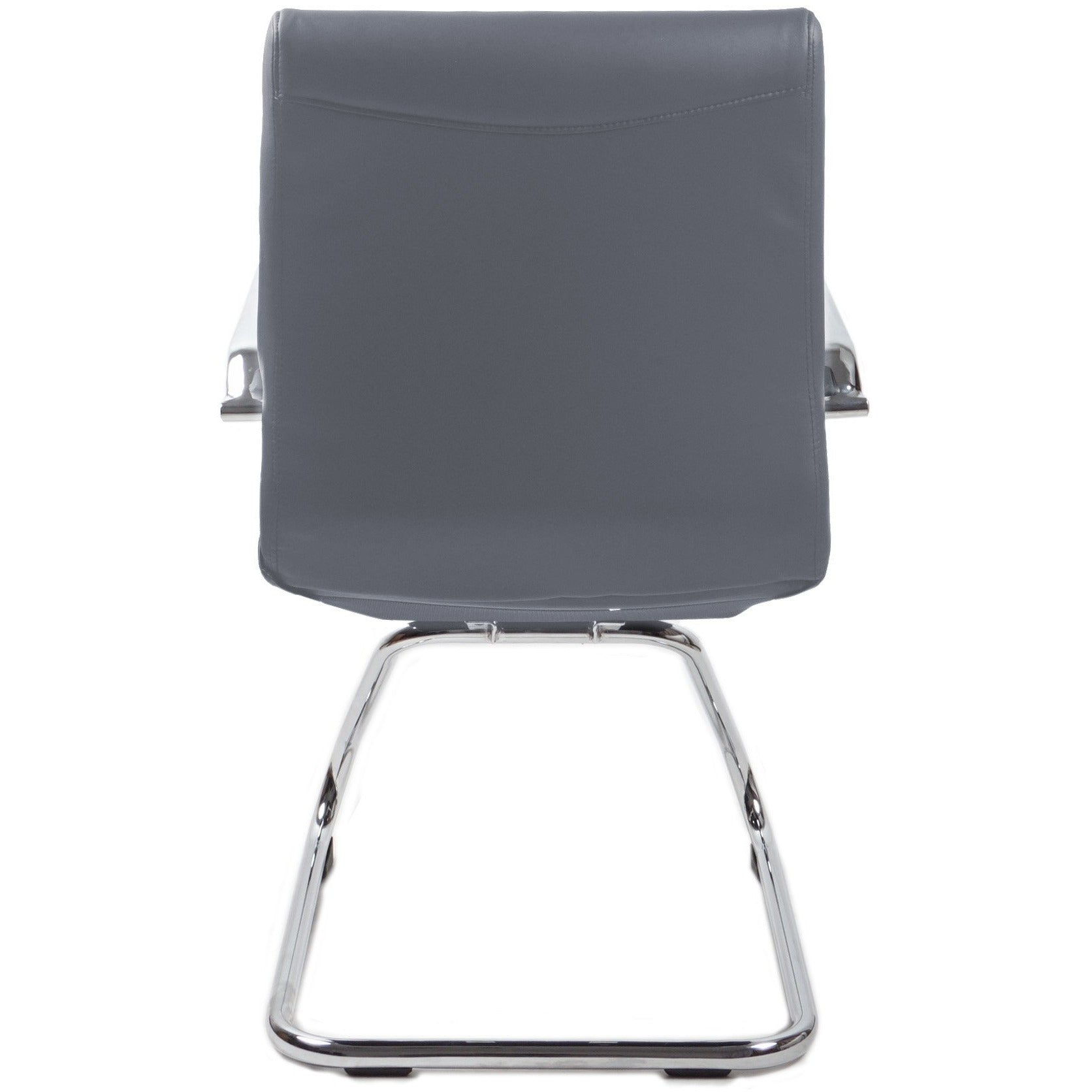 RealBiz II Modern Comfort Series Visitor LeatherPro Chair, Slate Gray