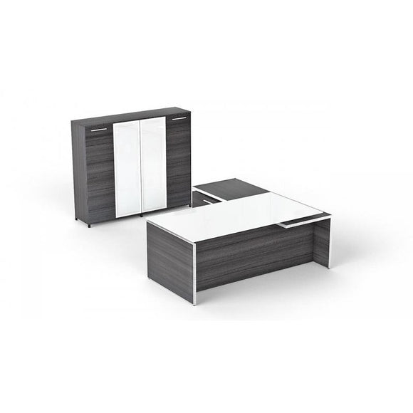 Chiarezza Executive Desk with Storage Closet