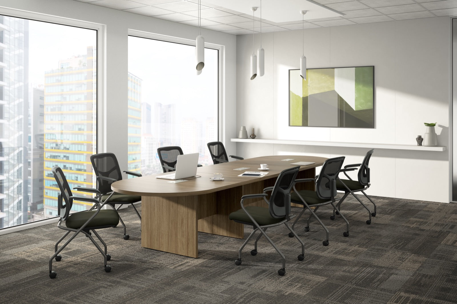 Empresario Racetrack Laminate Conference Table