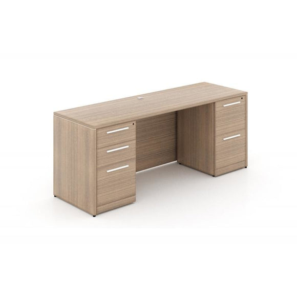 Chiarezza Double Pedestal Straight Desk