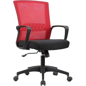 Haley II Ergonomic Mesh Task Chair, Rouge Red