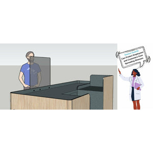 Social Distancing Barriers for Offices and Workplaces/Sneeze Guards & Protecting Barriers