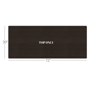 "WorkPro Outlet Flex Collection Long Rectangle Table Top, 72""W x 30""D, Espresso"
