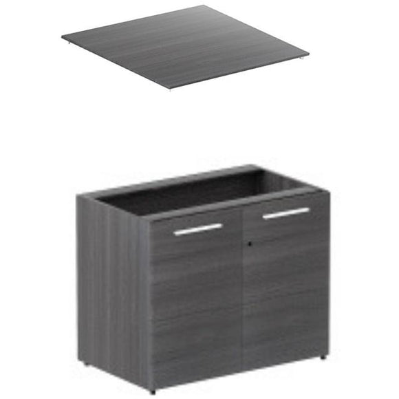 Two Door Storage Cabinet Laminated Doors w/ Laminate Top