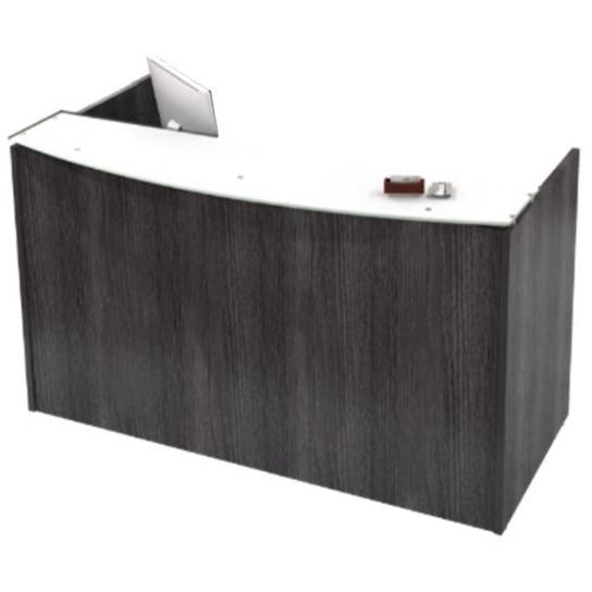 Empresario Reception Desk Shell with Glass Counter Top