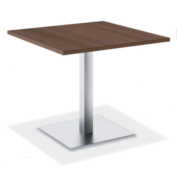 Empresario OX Reception Table, Silver Square Base