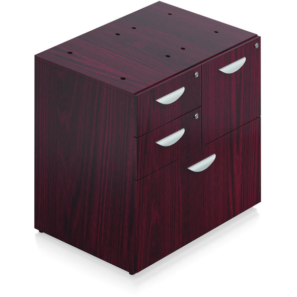 Porto Wood Veneer Mixed Storage Unit