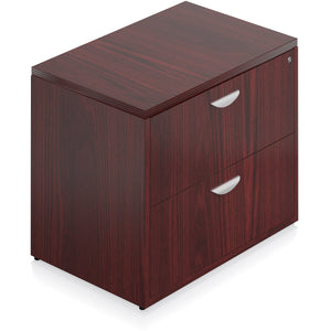 Porto Wood Veneer 2 Drawer Lateral File