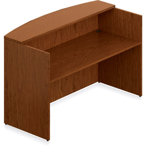 Porto Wood Veneer Reception Desk