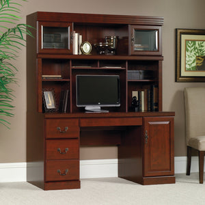 "(Scratch & Dent) Sauder Heritage Hill Outlet Credenza and Hutch Combo, 73 1/4""H x 59 1/8""W x 20 1/2""D, Classic Cherry"