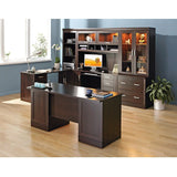 Sauder Outlet Office Port Executive Desk, Dark Alder