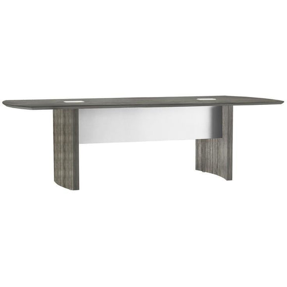 (Scratch & Dent) Gray Steel Neo Boat-shaped Conference Table