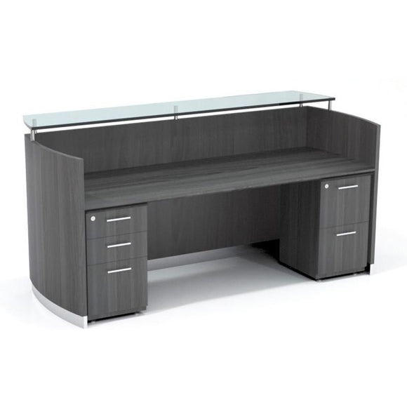Neo Reception Desk with Pedestals