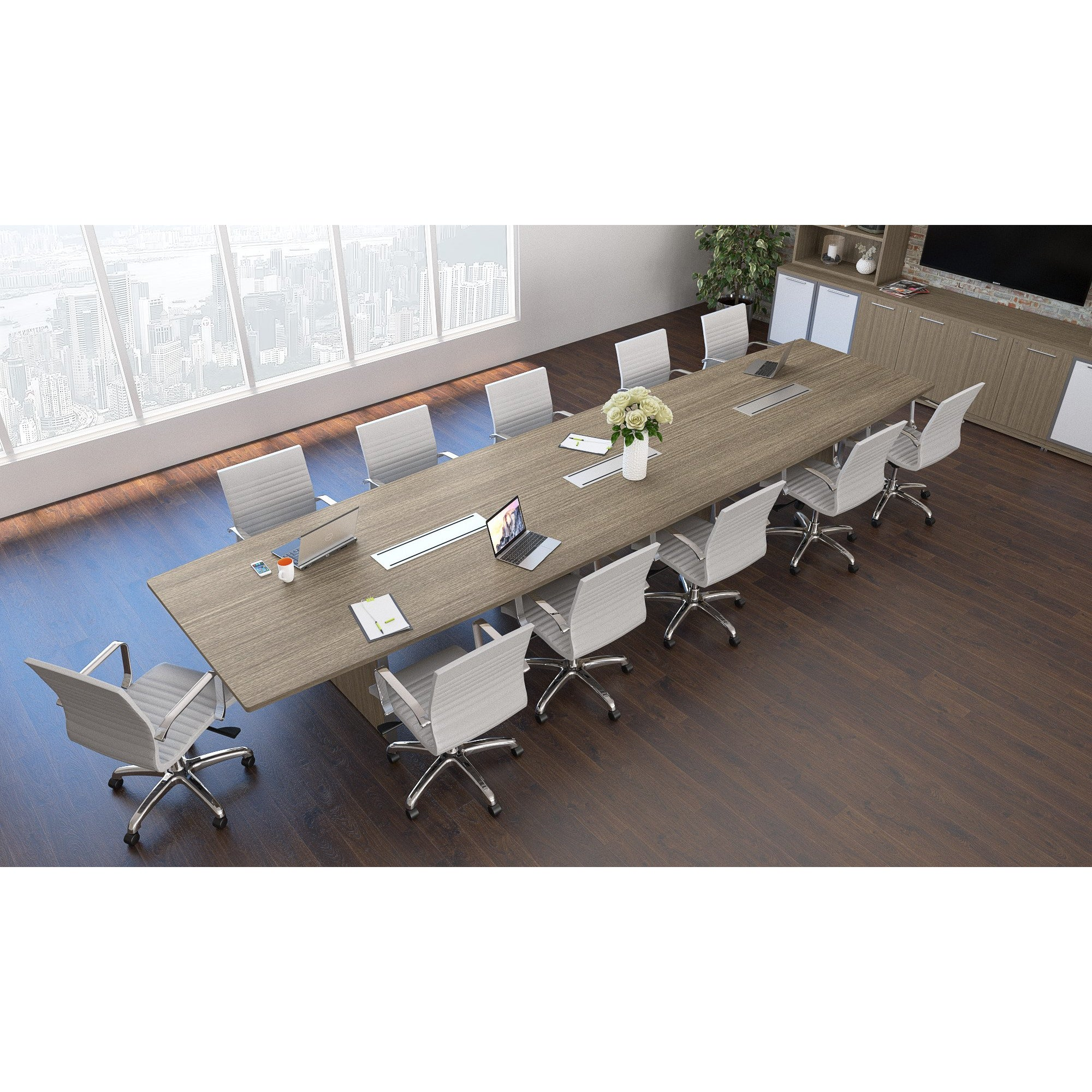 Chiarezza Deluxe Conference Table (8 ft, 10 ft, or 12 ft)