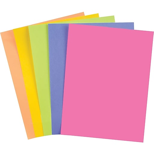 Color Print Outlet Paper, 8 1/2'' X 14'', Assorted Brands, Color, Weight, and Brightness