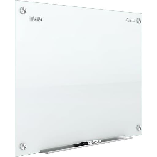 (Scratch & Dent) Quartet Outlet Infinity Outlet Magnetic Glass Dry-Erase Whiteboard, Frame-less, White, 8' x 4'