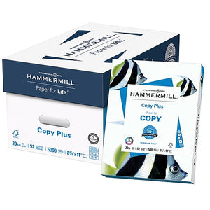 Hammermill Multi-Purpose Outlet Copy Paper, 8 1/2'' x 11'', 92 brightness, 20-lb., White, 10-reams/Case (assorted Hammermill brands inside case)